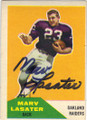 MARV LASATER OAKLAND RAIDERS AUTOGRAPHED VINTAGE ROOKIE FOOTBALL CARD #82814A