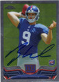 RYAN NASSIB NEW YORK GIANTS AUTOGRAPHED ROOKIE FOOTBALL CARD #82814F