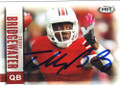 TEDDY BRIDGEWATER LOUISVILLE CARDINALS AUTOGRAPHED ROOKIE FOOTBALL CARD #83014D