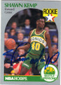 SHAWN KEMP SEATTLE SUPERSONICS AUTOGRAPHED ROOKIE BASKETBALL CARD #90614A
