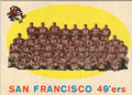 SAN FRANCISCO 49ers VINTAGE UNSIGNED TEAM CARD #90814B
