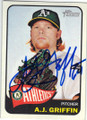 AJ GRIFFIN OAKLAND ATHLETICS AUTOGRAPHED BASEBALL CARD #90814H