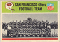 SAN FRANCISCO 49ers UNSIGNED VINTAGE TEAM CARD #90814J