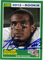 AARON DOBSON NEW ENGLAND PATRIOTS AUTOGRAPHED ROOKIE FOOTBALL CARD #90914i