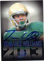 TERRANCE WILLIAMS BAYLOR UNIVERSITY AUTOGRAPHED ROOKIE FOOTBALL CARD #91214B