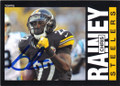 CHRIS RAINEY PITTSBURGH STEELERS AUTOGRAPHED FOOTBALL CARD #91214G