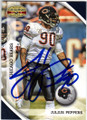 JULIUS PEPPERS CHICAGO BEARS AUTOGRAPHED FOOTBALL CARD #91214K