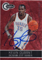 KEVIN DURANT OKLAHOMA CITY THUNDER AUTOGRAPHED & NUMBERED BASKETBALL CARD #91214L