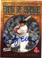 JACOBY ELLSBURY BOSTON RED SOX AUTOGRAPHED BASEBALL CARD #91614A