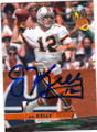 JIM KELLY UNIVERSITY OF MIAMI HURRICANES AUTOGRAPHED FOOTBALL CARD #91614B