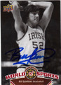 BILL LAIMBEER NOTRE DAME FIGHTING IRISH AUTOGRAPHED BASKETBALL CARD #91614C