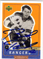 BRAD PARK NEW YORK RANGERS AUTOGRAPHED HOCKEY CARD #91714C