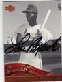 LOU BROCK ST LOUIS CARDINALS AUTOGRAPHED BASEBALL CARD #91714E