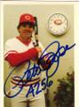 PETE ROSE CINCINNATI REDS AUTOGRAPHED VINTAGE BASEBALL CARD #91714G
