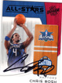 CHRIS BOSH TORONTO RAPTORS AUTOGRAPHED BASKETBALL CARD #91714i