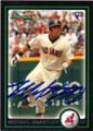 MICHAEL BRANTLEY CLEVELAND INDIANS AUTOGRAPHED ROOKIE BASEBALL CARD #92714L