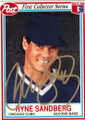RYNE SANDBERG CHICAGO CUBS AUTOGRAPHED BASEBALL CARD #101214A