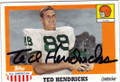 TED HENDRICKS UNIVERSITY OF MIAMI AUTOGRAPHED FOOTBALL CARD #101214B