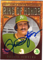 ROLLIE FINGERS OAKLAND ATHLETICS AUTOGRAPHED BASEBALL CARD #101214D