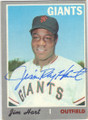 JIM HART SAN FRANCISCO GIANTS AUTOGRAPHED VINTAGE BASEBALL CARD #101314A