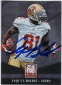 ANQUAN BOLDIN SAN FRANCISCO 49ers AUTOGRAPHED FOOTBALL CARD #101314J