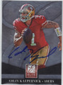 COLIN KAEPERNICK SAN FRANCISCO 49ers AUTOGRAPHED FOOTBALL CARD #101414C