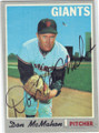 DON McMAHON SAN FRANCISCO GIANTS AUTOGRAPHED VINTAGE BASEBALL CARD #101414E