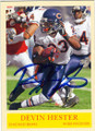 DEVIN HESTER CHICAGO BEARS AUTOGRAPHED FOOTBALL CARD #101514B