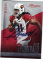 LARRY FITZGERALD ARIZONA CARDINALS AUTOGRAPHED FOOTBALL CARD #101614E