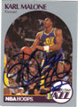 KARL MALONE UTAH JAZZ AUTOGRAPHED BASKETBALL CARD #101714F