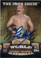 THE IRON SHEIK AUTOGRAPHED WRESTLING CARD #101714K