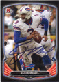 EJ MANUEL BUFFALO BILLS AUTOGRAPHED FOOTBALL CARD #101714L