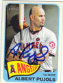 ALBERT PUJOLS LOS ANGELES ANGELS OF ANAHEIM AUTOGRAPHED BASEBALL CARD #101814E