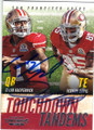 COLIN KAEPERNICK & VERNON DAVIS SAN FRANCISCO 49ers DOUBLE AUTOGRAPHED FOOTBALL CARD #101814L