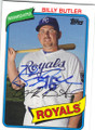 BILLY BUTLER KANSAS CITY ROYALS AUTOGRAPHED BASEBALL CARD #102014A