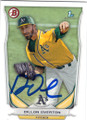 DILLON OVERTON OAKLAND ATHLETICS PITCHER AUTOGRAPHED ROOKIE BASEBALL CARD #102014J