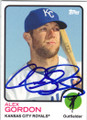 ALEX GORDON KANSAS CITY ROYALS AUTOGRAPHED BASEBALL CARD #102014M
