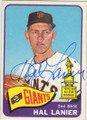 HAL LANIER SAN FRANCISCO GIANTS AUTOGRAPHED VINTAGE ROOKIE BASEBALL CARD #102014N