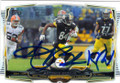 ANTONIO BROWN PITTSBURGH STEELERS AUTOGRAPHED FOOTBALL CARD #102114O