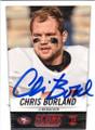 CHRIS BORLAND SAN FRANCISCO 49ers AUTOGRAPHED ROOKIE FOOTBALL CARD #102114P