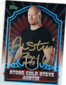 STONE COLD STEVE AUSTIN AUTOGRAPHED WRESTLING CARD #102214B