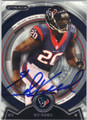 ED REED HOUSTON TEXANS AUTOGRAPHED FOOTBALL CARD #102214D