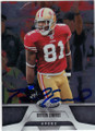 BRAYLON EDWARDS SAN FRANCISCO 49ers AUTOGRAPHED FOOTBALL CARD #102214F