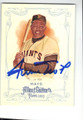 WILLIE MAYS SAN FRANCISCO GIANTS AUTOGRAPHED BASEBALL CARD #102214J