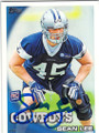 SEAN LEE DALLAS COWBOYS AUTOGRAPHED ROOKIE FOOTBALL CARD #102214K