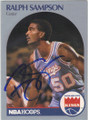 RALPH SAMPSON SACRAMENTO KINGS AUTOGRAPHED BASKETBALL CARD #102214M