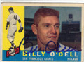 BILLY O'DELL SAN FRANCISCO GIANTS AUTOGRAPHED VINTAGE BASEBALL CARD #102214R