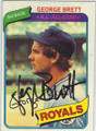 GEORGE BRETT KANSAS CITY ROYALS AUTOGRAPHED VINTAGE BASEBALL CARD #102214S