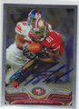 ANQUAN BOLDIN SAN FRANCISCO 49ers AUTOGRAPHED FOOTBALL CARD #102314E