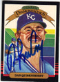 DAN QUISENBERRY KANSAS CITY ROYALS PITCHER AUTOGRAPHED VINTAGE BASEBALL CARD #102314G